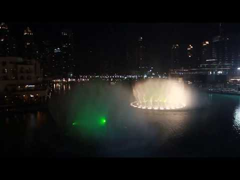 Amazing New  Fountain Show | Dubai Mall | Shiraz-Mon Amour | 2014