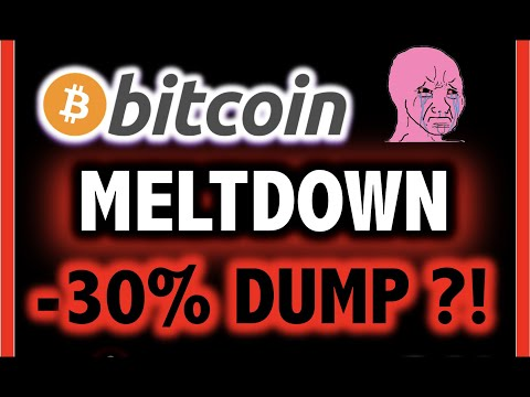 MELTDOWN -30% FOR BITCOIN?!! DUMP?!! ⚠️ Crypto Analysis TA Today & BTC Cryptocurrency Price News Now