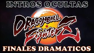 DRAGON BALL FIGHTER Z - Todas las intro ocultas y Finales Dramaticos #DBFZ