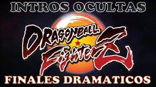 DRAGON BALL FIGHTER Z - Todas las intro ocultas y Finales Dramaticos #DBFZ