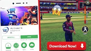 IPL PRO CRICKET 2018 NEW CRICKET GAME LAUNCHED FOR ANDROID || FULL REVIEW || BAAP OF ALL GAMES
