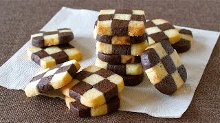 Easy Checkerboard Cookies (ice Box Cookie) チェックボックスクッキー (アイスボックスクッキー) - Ochikeron - Create Eat Happy