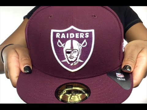 Raiders 'NFL TEAM-BASIC' Maroon-White Fitted Hat by New Era