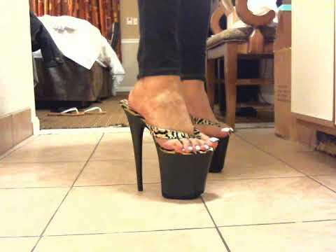 Closeup-518 Black Velvet Pleaser Sandals