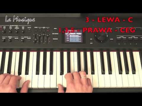 Pianino Lekcja - akordy - jak grać - La Musique #2