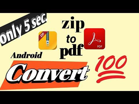 How To Convert Zip File To Pdf In Hindi | Zip To Pdf , Zip फ़ाइल को Pdf में बदले अपने फ़ोन पर