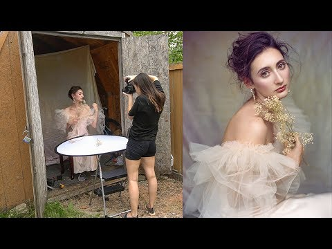 Video: Taking natural light portraits in a backyard shed