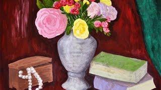 Цветы в ИЗО-работах Натальи Ртищевой