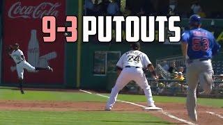 MLB   The Rare 9-3 Putout (Insane Compilation)