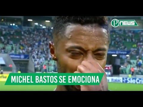 Michel Bastos se emociona após o jogo entre Palmeiras x São Paulo 11/03/2017