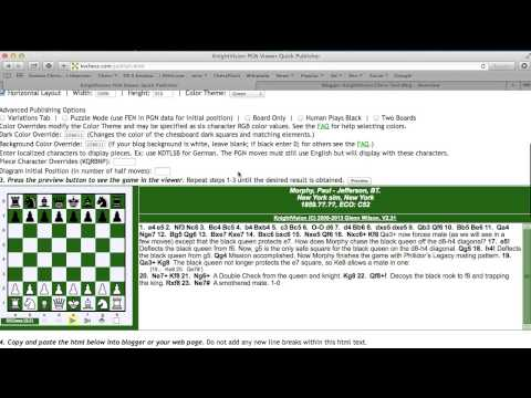 KnightVision Chess PGN Viewer Introduction