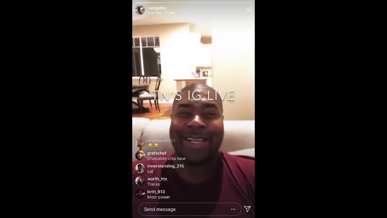 Tariq Nasheed's IG LIVE 10-12-19 | back at ???? after wildfire, Bu$$y Brother watched HC5