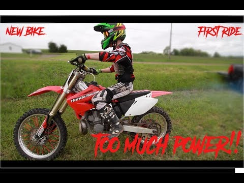FIRST 250 2 STROKE DIRT BIKE!!!! TOO FAST