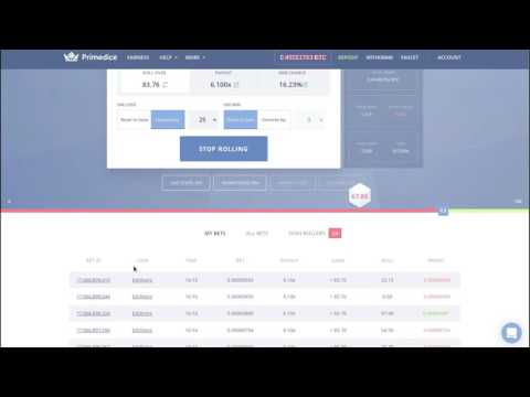 Prime Dice - The Road To 1BTC ($2000) Profit - Update: Around 90% There -