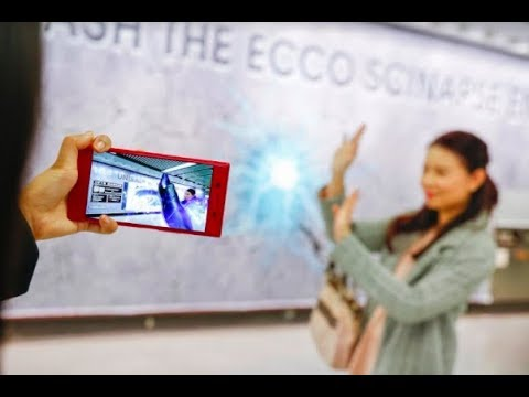 Augmented Reality interactive game by ECCO in MTR station   JCDecaux Transport Hong Kong