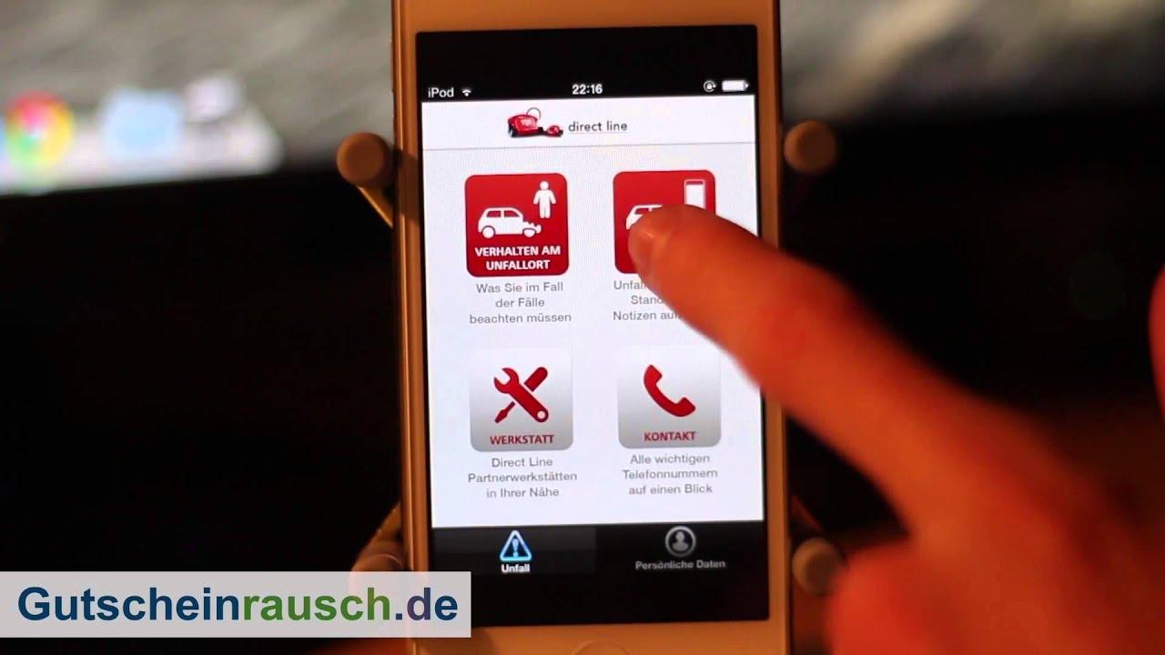 Autounfall Direct Line App Im Test Auf Gutscheinrausch De