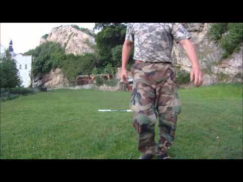Rychlolukostřelba střílení třemi luky z různých pozic