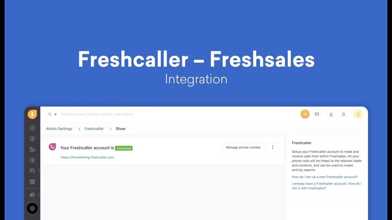Freshcaller - Freshsales integration