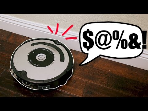 Catfish - It's a Rigged Up Roomba and it's not happy when it runs into walls!@#!