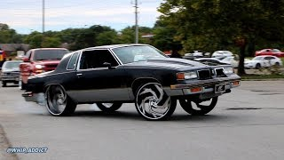 WhipAddict: Supercharged Oldsmobile Cutlass 442 Power U Turn on 26s, New Set Up And Wheels For 19'!