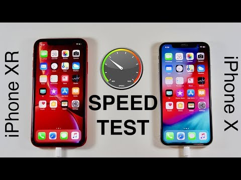 iPhone XR vs iPhone X SPEED TEST!
