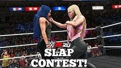 WWE 2K20 - Women Slap Contest! (ft. Stephanie McMahon, Sasha Banks & more!)