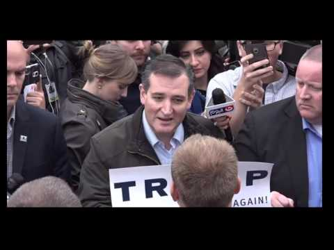"""Ted Cruz Confronts Trump Supporters In Indiana FULL. """"Where"""