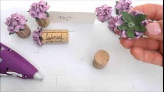 Kara's Vineyard Wedding DIY Place Card Holder
