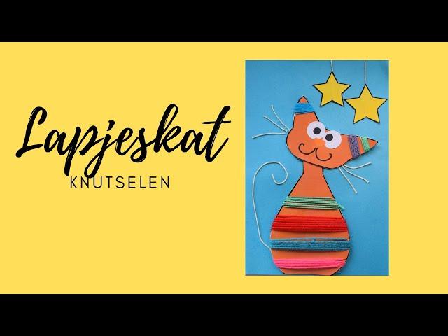 lapjeskat knutselen voor dierendag met deze video van Suus kinderfeestjes