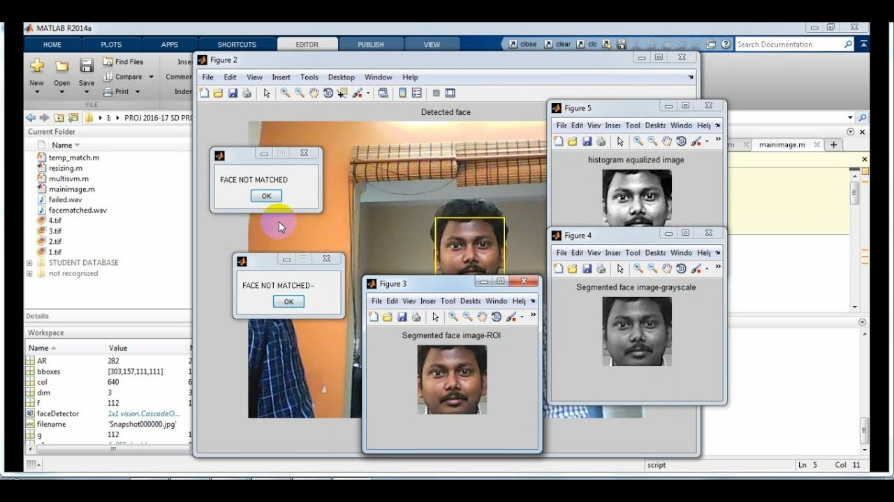face recognition using Matlab |Best IEEE 2018-2019 Projects in Bangalore