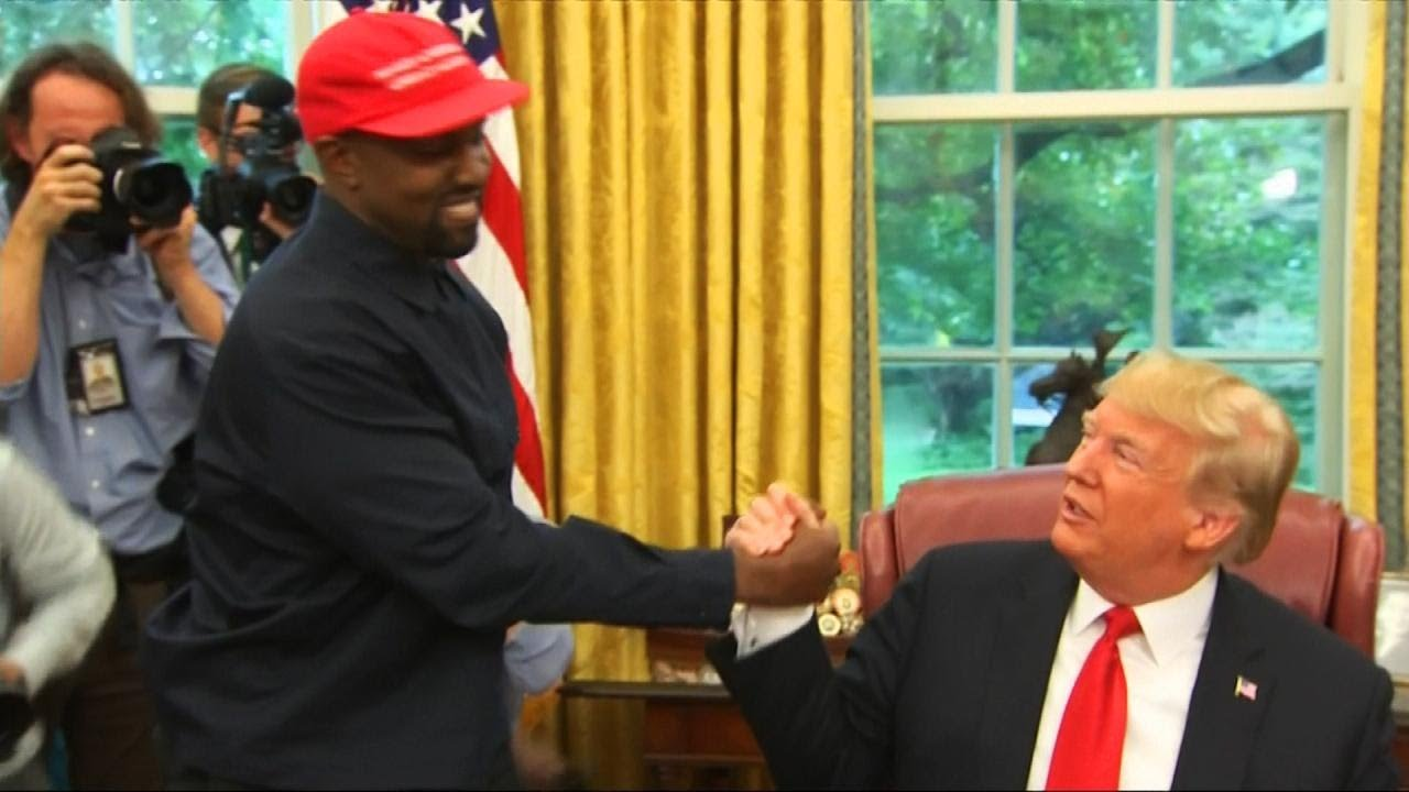 Kanye West Hugs President Trump During White House Visit Youtube