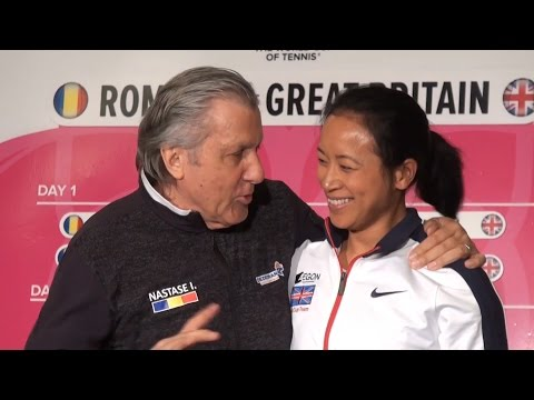 Romania Coach Ilie Nastase Asks For Anne Keothavong's Room Number