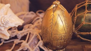 Golden Easter Egg - Harry Potter DIY
