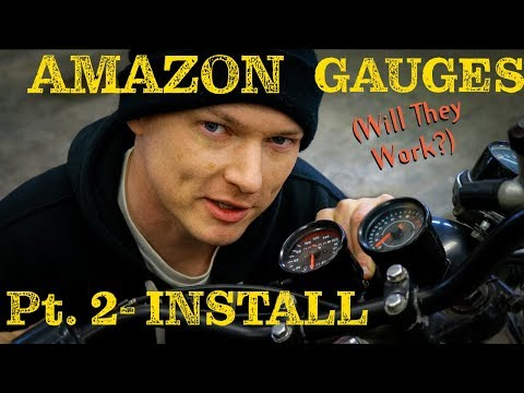 How To Install Aftermarket Amazon Motorcycle Gauges