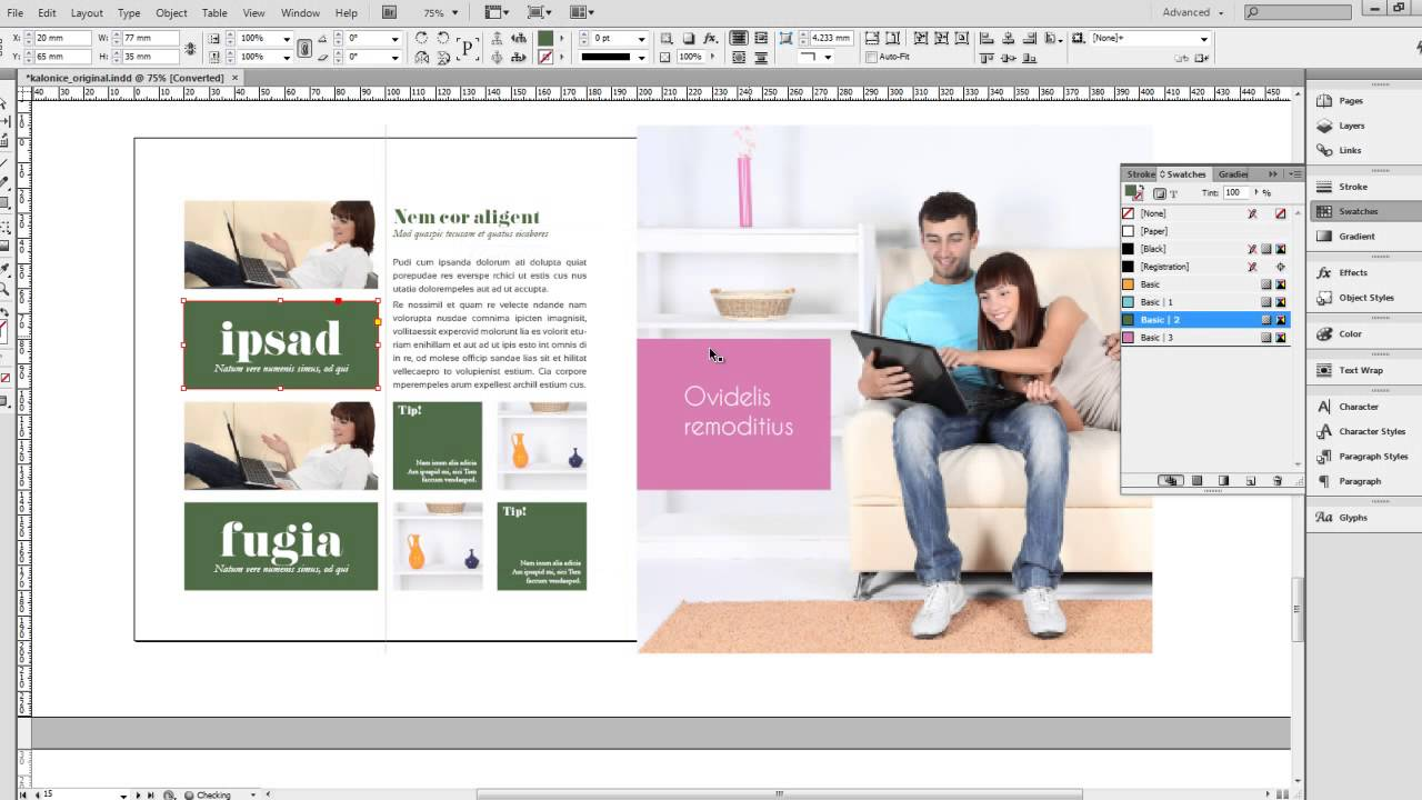 InDesign Magazine Template: Kalonice SQUARE - YouTube