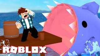 Roblox - TUBARÃO GIGANTE ME ATACOU !! - ( SHARK ATTACK )