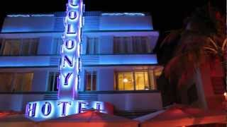 "South Beach Strip at Night Miami Florida (""All That We Perceive"" by Thievery Corporation) 1080p HD"