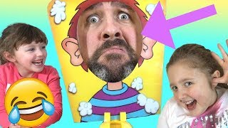 Dad Vs. Daughters! Pie Face Game Edition - WAY FUNNIER than we thought!! thumbnail