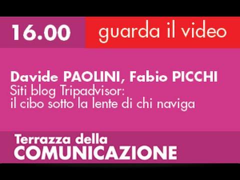 Davide PAOLINI, Fabio PICCHI - Siti blog Tripadvisor: il cibo sotto la lente di chi naviga