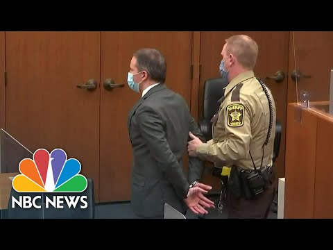 Watch Chauvin Listen To Verdict, Walk Out Of Courtroom In Handcuffs | NBC News NOW