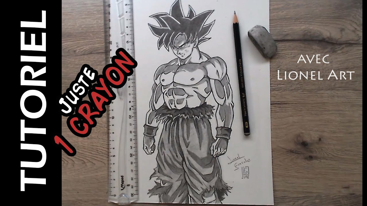 Comment dessiner goku ultra instinct avec 1 crayon hb - Comment dessiner goku ...