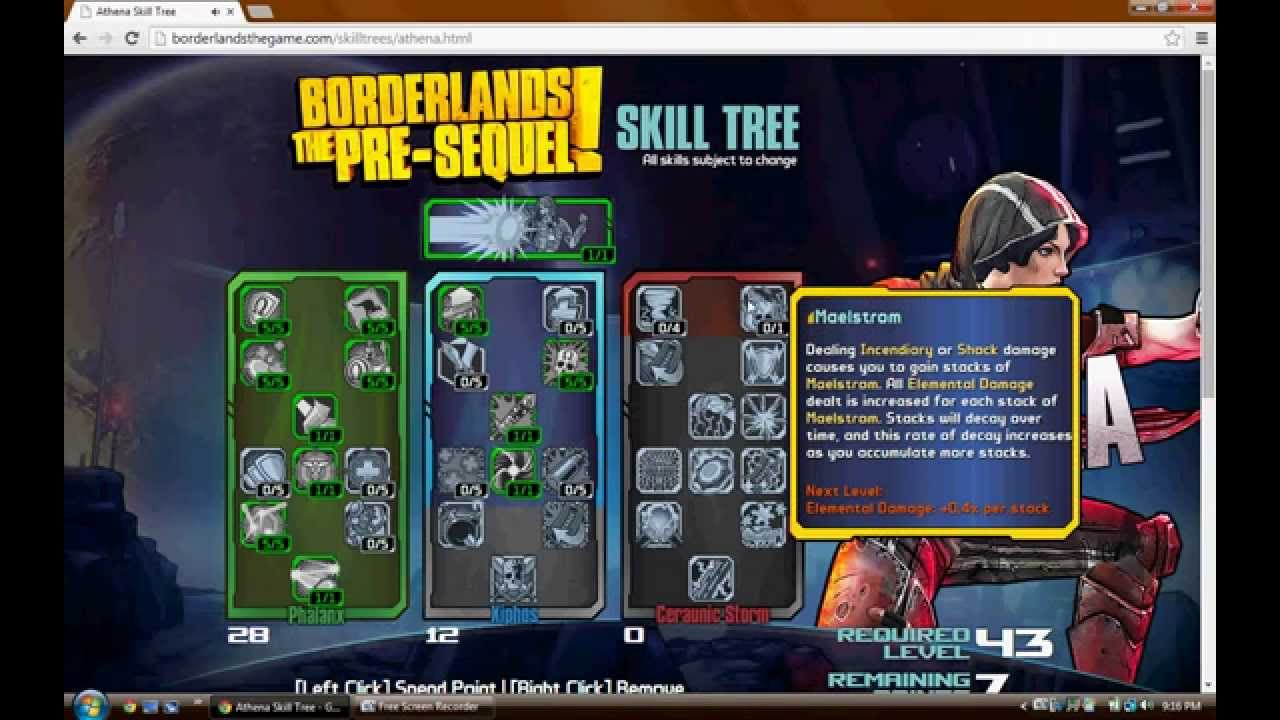 borderlands the pre sequel skills