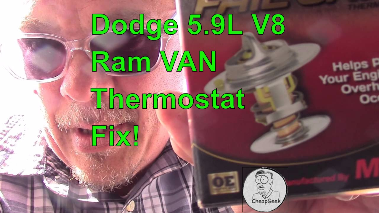 How To Replace The Thermostat In A Dodge Ram Van Youtube 1994 Fuse Box