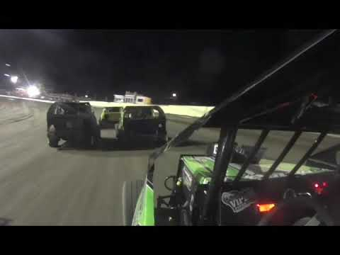 Mod lite in car camera Blake Wilson Feature race Greenville, Mississippi 9-9-2017