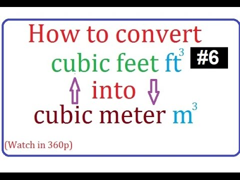 how to convert cubic feet to cubic meter or cubic meter to cubic feet in urdu/hindi