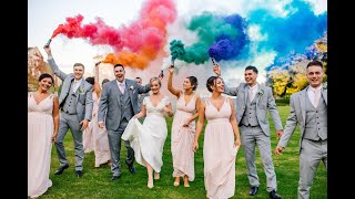 Оригинальное поздравление на свадьбу молодоженам под музыку Quest Pistols Show