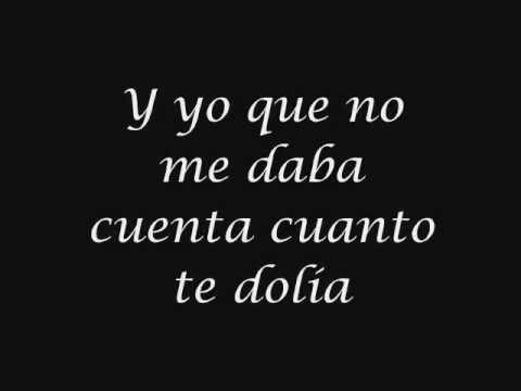 Me dedique a perderte letra.- Alejandro Fernández
