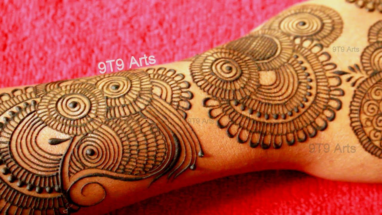 easy simple mehndi designs for karwa chauth