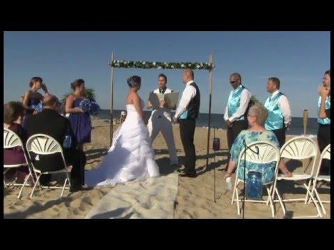 Beach Wedding In Ocean City Maryland