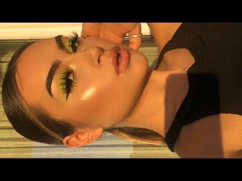 Neon Green Glam Makeup Tutorial I Aylin Melisa thumbnail